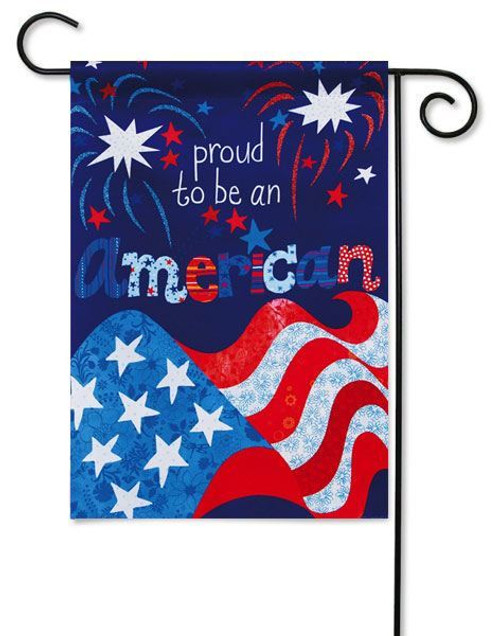 "Proud to be American Garden Flag - 12.5"" x 18"" - 2 Sided Message"