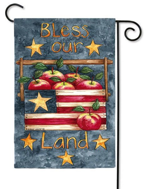 "Bless Our Land Garden Flag - 12.5"" x 18"" - 2 Sided Flag"