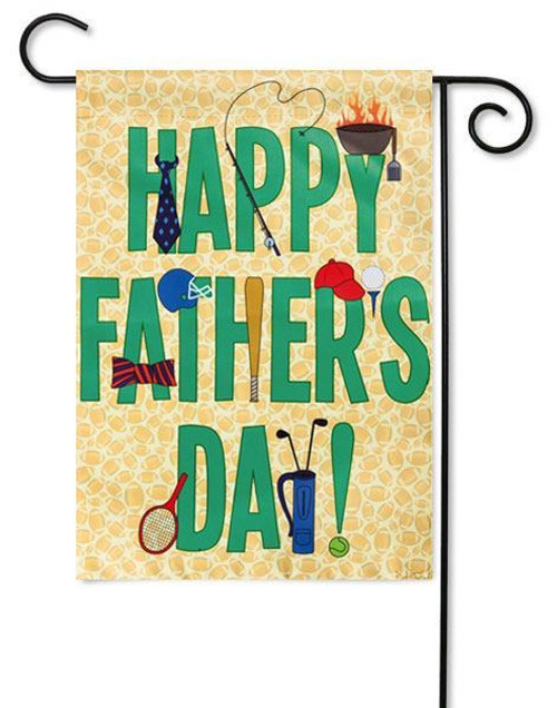 "Happy Father's Day Garden Flag - 12.5"" x 18"" - 2 Sided Message"
