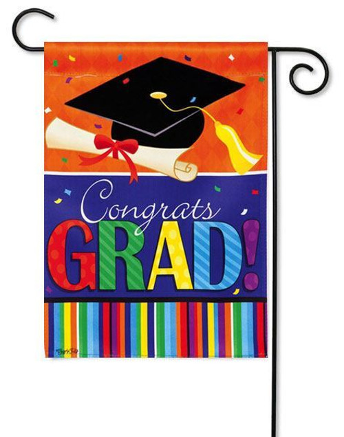 "Confetti Grad Garden Flag - 12.5"" x 18"" - 2 Sided Message"