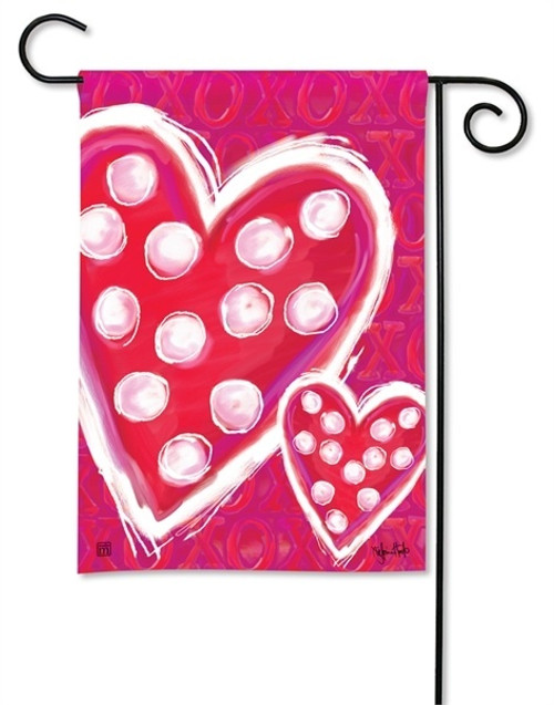 "Valentine Wishes Garden Flag - 12.5"" x 18"" - BreezeArt"