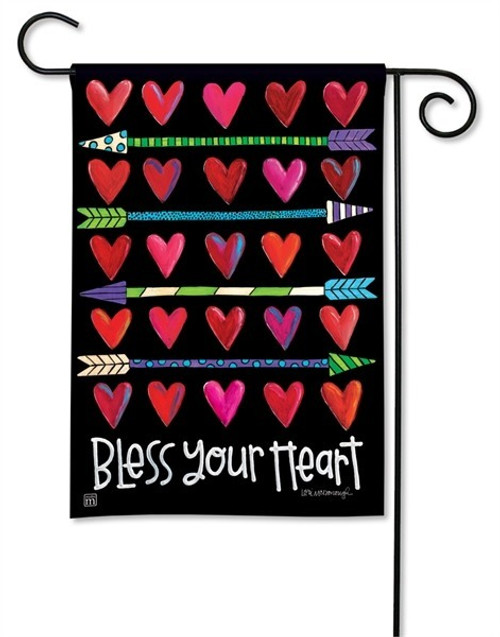 "Hearts and Arrows Garden Flag - 12.5"" x 18"" - BreezeArt"