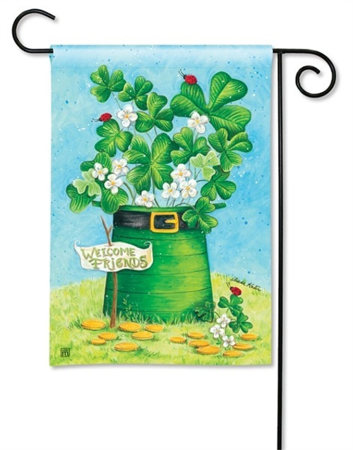 "Shamrocks and Ladybugs Garden Flag - 12.5"" x 18"" - BreezeArt"