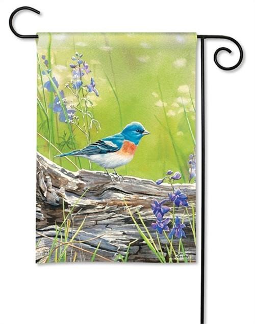 """Meadow Bluebird Garden Flag - 12.5"""" x 18"""" - BreezeArt"""