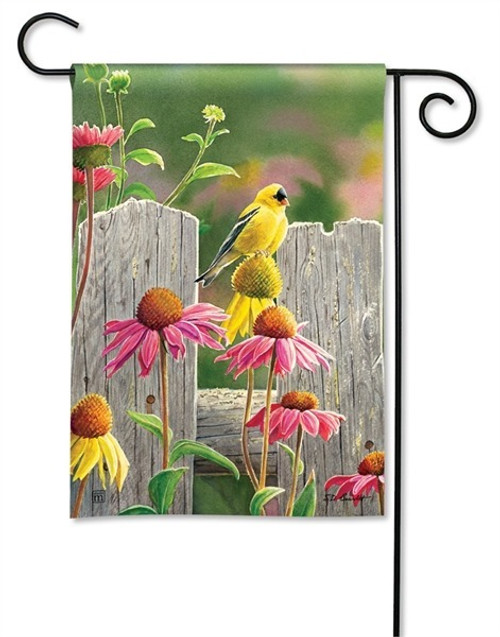 "Goldfinches and Coneflowers Garden Flag - 12.5"" x 18"" - BreezeArt"