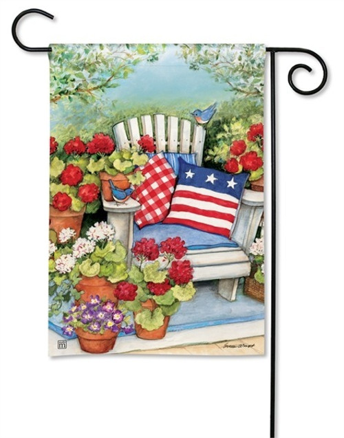 Patriotic Garden Flag - BreezeArt