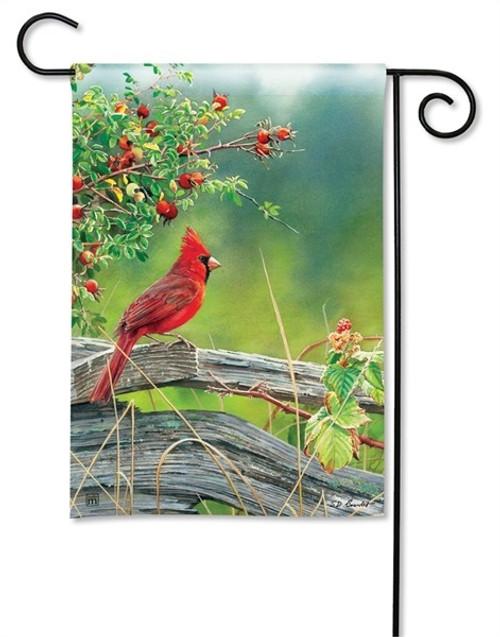 """Cardinal Lookout Garden Flag - 12.5"""" x 18"""" - BreezeArt"""