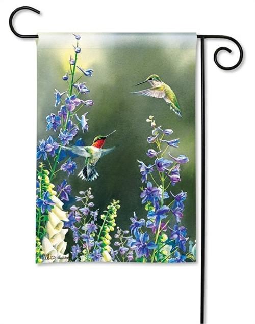 """Hummingbird Garden Garden Flag - 12.5"""" x 18"""" - BreezeArt"""