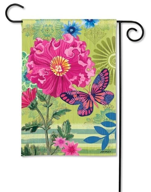 "Capistrano Peony Garden Flag - 12.5"" x 18"" - BreezeArt"