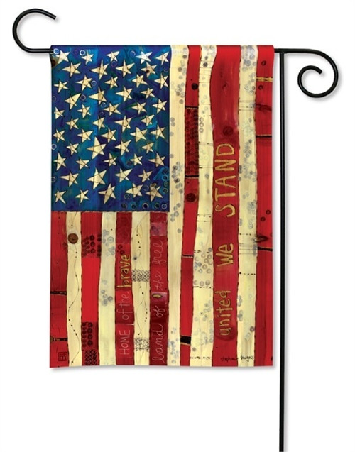 "Home of the Brave Garden Flag - 12.5"" x 18"" - BreezeArt"