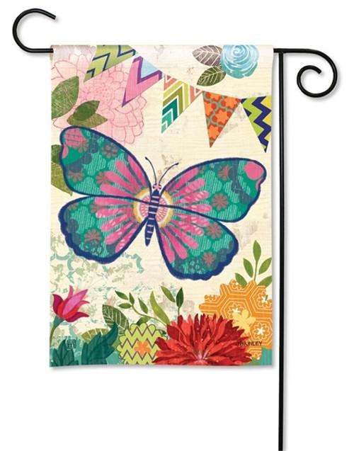 "Capistrano Butterfly Garden Flag - 12.5"" x 18"" - BreezeArt"