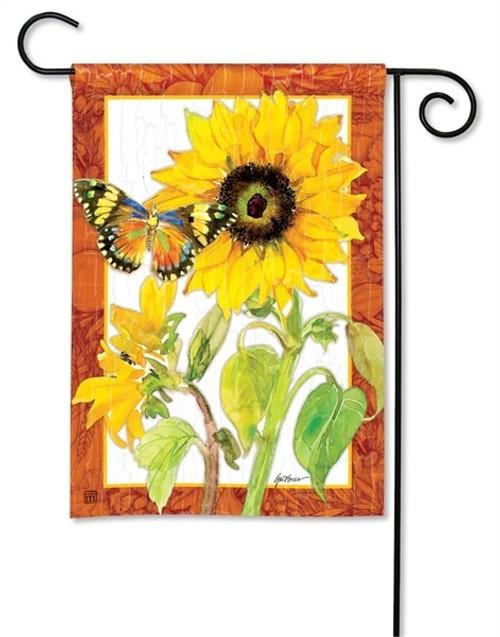 """Golden Sunflower Garden Flag - 12.5"""" x 18"""" - BreezeArt"""