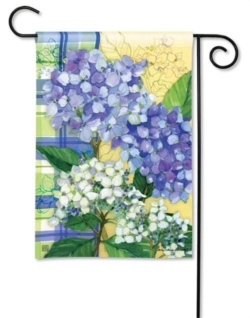 """Hydrangea Dance Garden Flag - 12.5"""" x 18"""" - BreezeArt"""