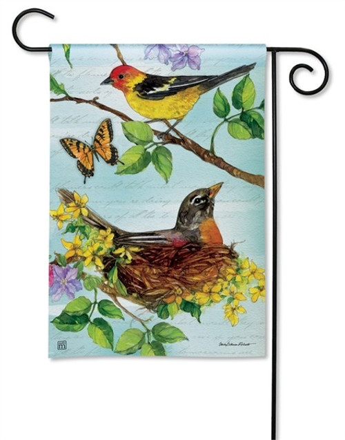 "Flora and Fauna Garden Flag - 12.5"" x 18"" - BreezeArt"