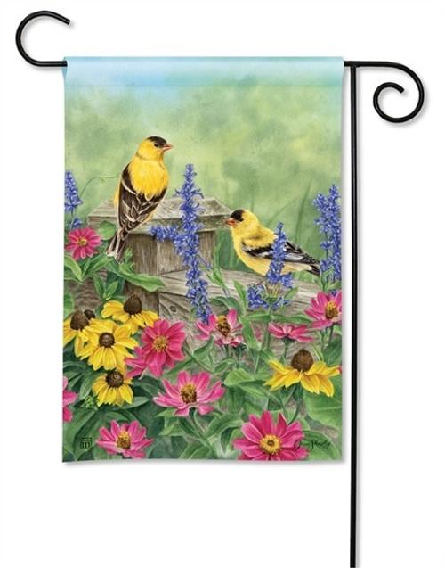 """Garden Finches Garden Flag - 12.5"""" x 18"""" - BreezeArt"""
