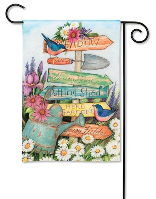 "Signs of Summer Garden Flag - 12.5"" x 18"" - BreezeArt"