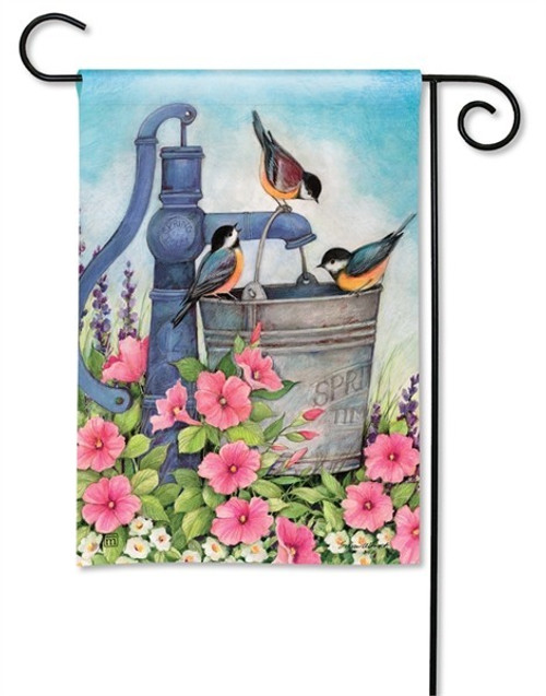 "Birds of Summer Garden Flag - 12.5"" x 18"" - BreezeArt"