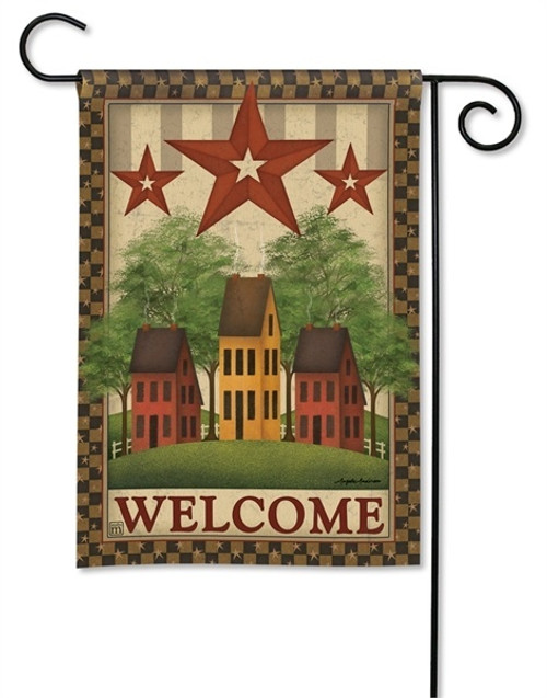 "Saltbox Houses Garden Flag - 12.5"" x 18"" - BreezeArt"