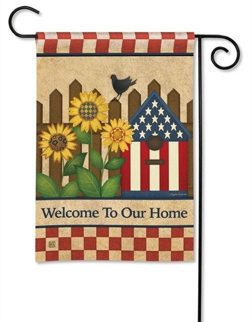 Unique USA Patriotic Garden Flags Add to Outdoor Yard Decorations