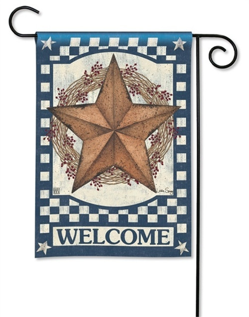 "Blue Barn Star Garden Flag - 12.5"" x 18"" - BreezeArt"