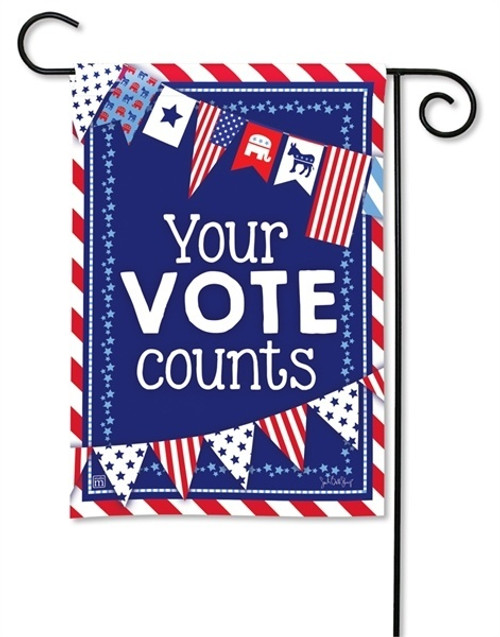 "Your Vote Counts Garden Flag - 12.5"" x 18"" - BreezeArt"