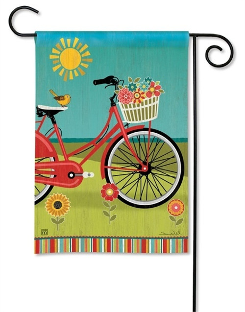"Summer Ride Garden Flag - 12.5"" x 18"" - BreezeArt"