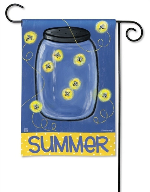 "Summer Fireflies Garden Flag - 12.5"" x 18"" - BreezeArt"