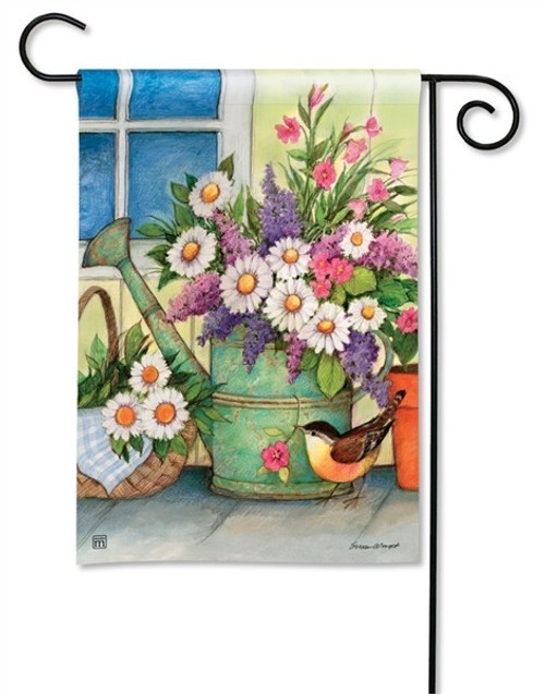 "Front Porch Flowers Garden Flag - 12.5"" x 18"" - BreezeArt"