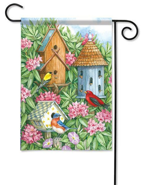 "Birdhouse Gathering Garden Flag - 13"" x 18"" - Flag Trends"