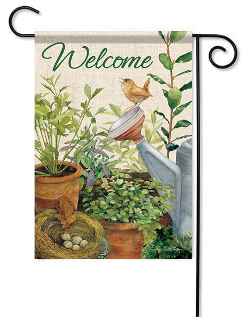 "Little Wren Garden Flag - 13"" x 18"" - 2 Sided Message"