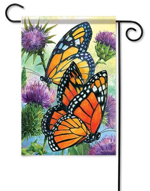 "Magestic Monarchs Garden Flag - 13"" x 18"" - Flag Trends"