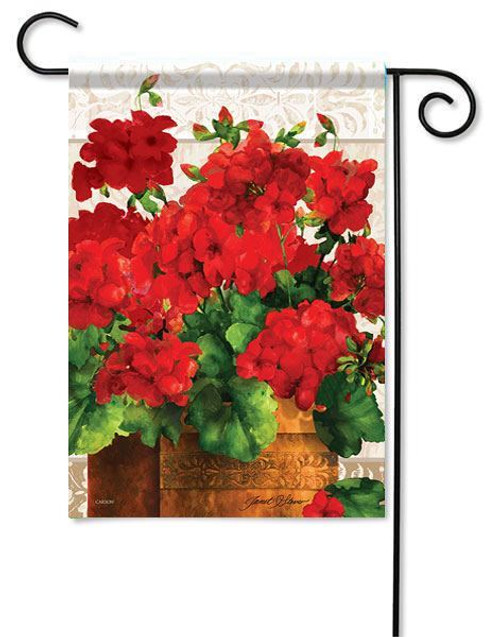 "Geranium Joy Garden Flag - 13"" x 18"" - Flag Trends"