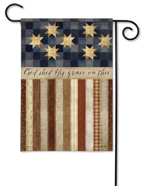 "God Shed His Grace Garden Flag - 13"" x 18"" - 2 Sided Message"