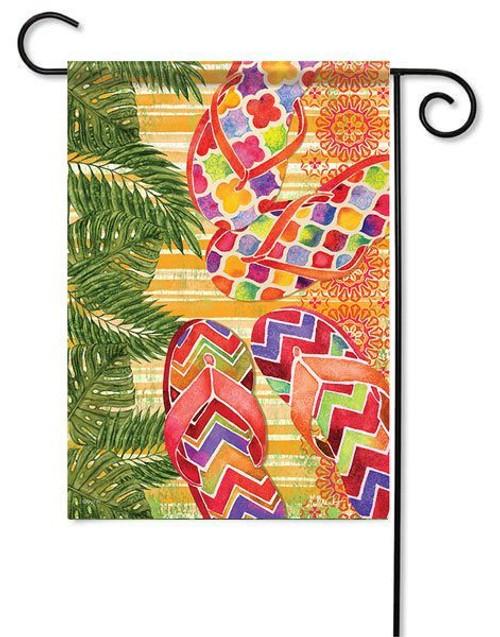 "Summer Flip Flops Garden Flag - 13"" x 18"" - Flag Trends"