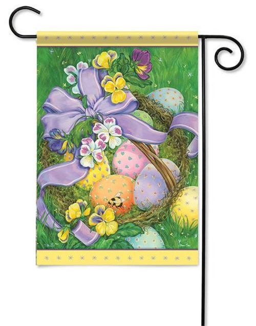 "Easter Basket Garden Flag - 13"" x 18"" - Flag Trends"