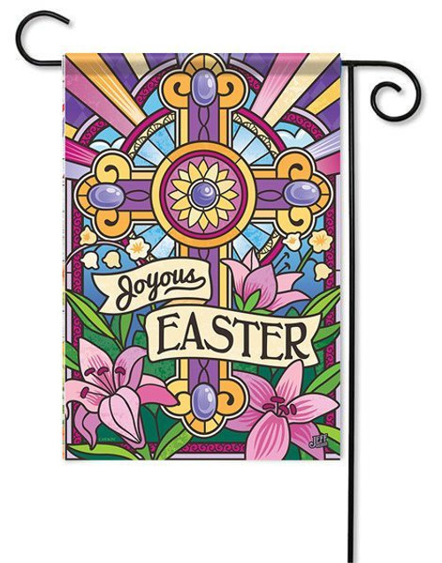 "Joyous Easter Garden Flag - 13"" x 18"" - 2 Sided Message"