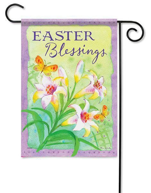 "Easter Lilies Garden Flag - 13"" x 18"" - 2 Sided Message"