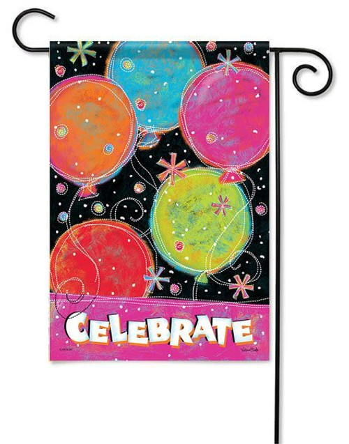 "Celebrate Garden Flag - 13"" x 18"" - 2 Sided Message"