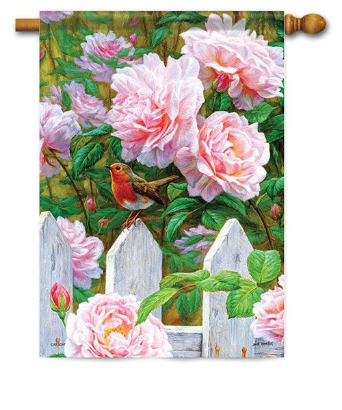 "Rose Garden House Flag - 28"" x 40"" - Flag Trends"