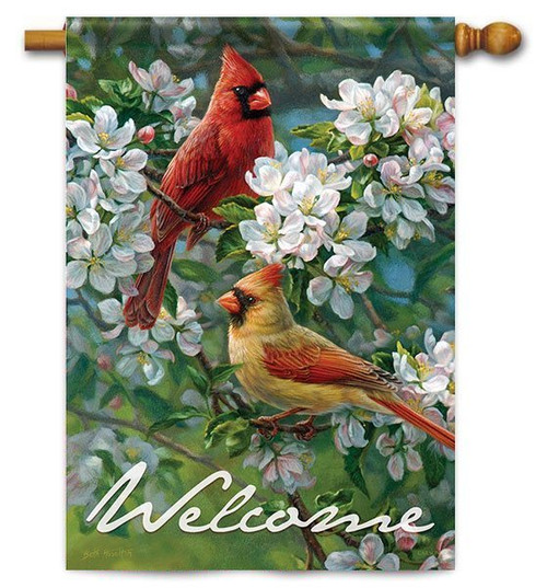 "Orchard Romance House Flag - 28"" x 40"" - 2 Sided Message"