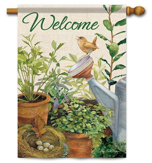 "Little Wren House Flag - 28"" x 40"" - 2 Sided Message"