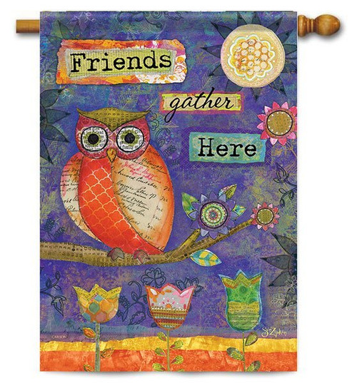 "Artistic Owl House Flag - 28"" x 40"" - 2 Sided Message"
