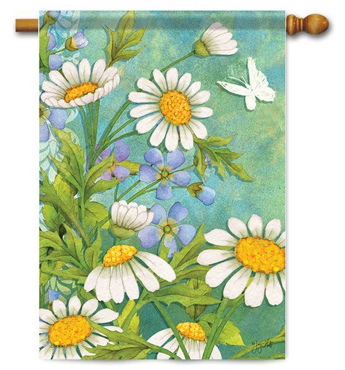 "Misty Garden House Flag - 28"" x 40"" - Flag Trends"