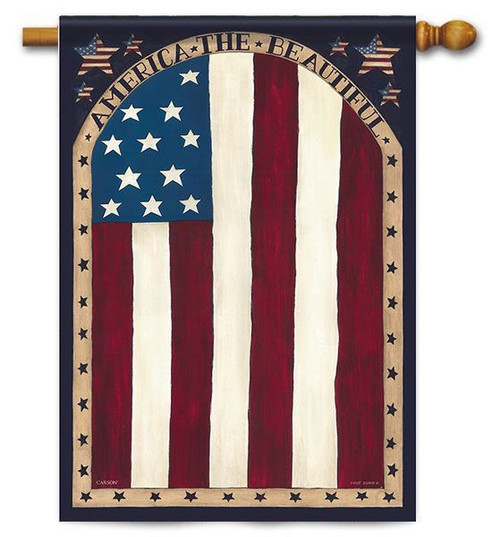 "Beautiful America House Flag - 28"" x 40"" - 2 Sided Message"