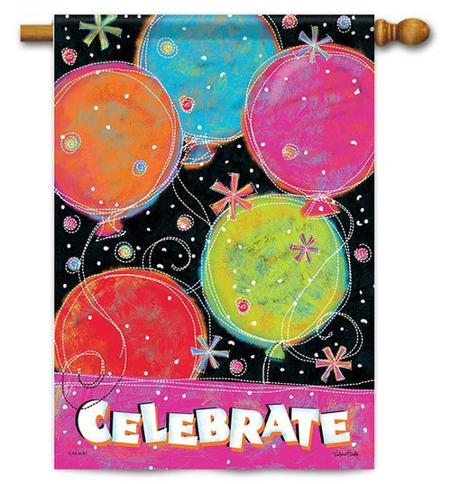 "Celebrate House Flag - 28"" x 40"" - 2 Sided Message"