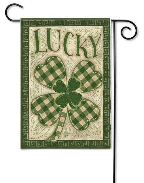 "Lucky Garden Flag - 13"" x 18"" - 2-Sided Message"