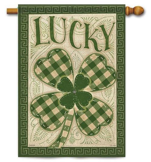 "Lucky House Flag - 28"" x 40"" - 2-Sided Message"