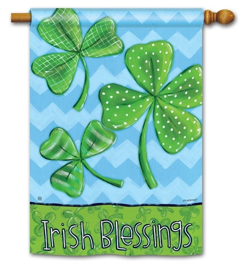 "Irish Blessings House Flag - 28"" x 40"" - 2 Sided Message"
