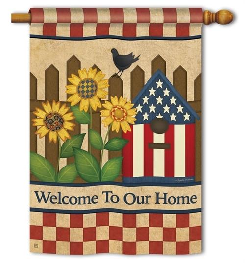 "Americana Garden House Flag - 28"" x 40"" - BreezeArt"