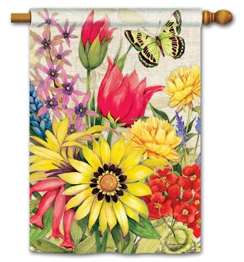 "Botanical Garden House Flag - 28"" x 40"" - BreezeArt"